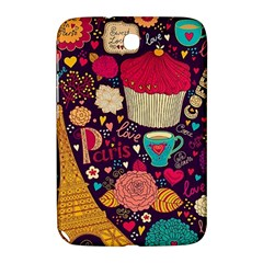 Cute Colorful Doodles Colorful Cute Doodle Paris Samsung Galaxy Note 8 0 N5100 Hardshell Case