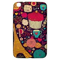 Cute Colorful Doodles Colorful Cute Doodle Paris Samsung Galaxy Tab 3 (8 ) T3100 Hardshell Case