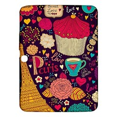 Cute Colorful Doodles Colorful Cute Doodle Paris Samsung Galaxy Tab 3 (10 1 ) P5200 Hardshell Case