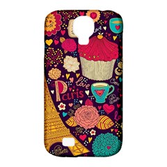 Cute Colorful Doodles Colorful Cute Doodle Paris Samsung Galaxy S4 Classic Hardshell Case (pc+silicone)