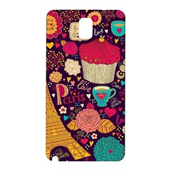 Cute Colorful Doodles Colorful Cute Doodle Paris Samsung Galaxy Note 3 N9005 Hardshell Back Case