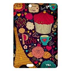 Cute Colorful Doodles Colorful Cute Doodle Paris Amazon Kindle Fire Hd (2013) Hardshell Case