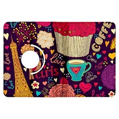 Cute Colorful Doodles Colorful Cute Doodle Paris Kindle Fire Hdx Flip 360 Case