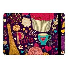 Cute Colorful Doodles Colorful Cute Doodle Paris Samsung Galaxy Tab Pro 10 1  Flip Case