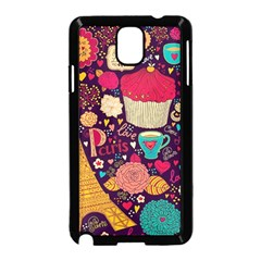 Cute Colorful Doodles Colorful Cute Doodle Paris Samsung Galaxy Note 3 Neo Hardshell Case (black)