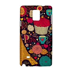Cute Colorful Doodles Colorful Cute Doodle Paris Samsung Galaxy Note 4 Hardshell Case