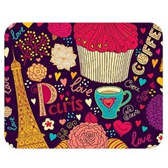 Cute Colorful Doodles Colorful Cute Doodle Paris Double Sided Flano Blanket (Medium)