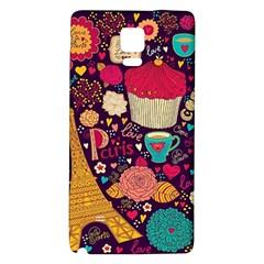 Cute Colorful Doodles Colorful Cute Doodle Paris Galaxy Note 4 Back Case