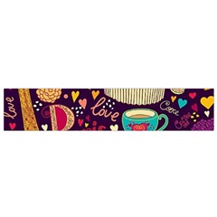 Cute Colorful Doodles Colorful Cute Doodle Paris Flano Scarf (Small)
