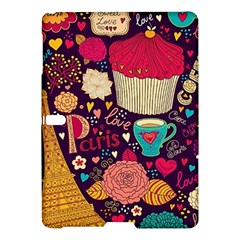Cute Colorful Doodles Colorful Cute Doodle Paris Samsung Galaxy Tab S (10.5 ) Hardshell Case