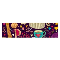 Cute Colorful Doodles Colorful Cute Doodle Paris Satin Scarf (oblong)