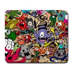 Hipster Wallpaper Pattern Large Mousepads