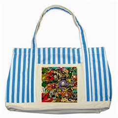 Hipster Wallpaper Pattern Striped Blue Tote Bag