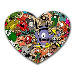 Hipster Wallpaper Pattern Heart Mousepads