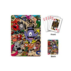 Hipster Wallpaper Pattern Playing Cards (mini)