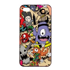 Hipster Wallpaper Pattern Apple Iphone 4/4s Seamless Case (black)
