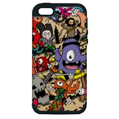 Hipster Wallpaper Pattern Apple Iphone 5 Hardshell Case (pc+silicone)