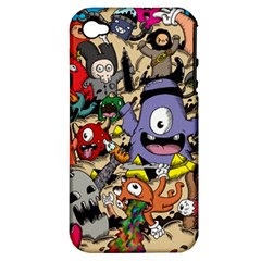Hipster Wallpaper Pattern Apple Iphone 4/4s Hardshell Case (pc+silicone)
