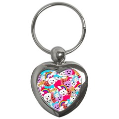 Cute Cartoon Pattern Key Chains (Heart)