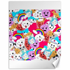 Cute Cartoon Pattern Canvas 18  X 24