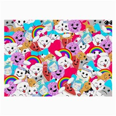 Cute Cartoon Pattern Large Glasses Cloth (2-Side)