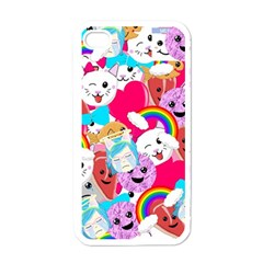 Cute Cartoon Pattern Apple iPhone 4 Case (White)