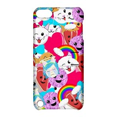 Cute Cartoon Pattern Apple Ipod Touch 5 Hardshell Case With Stand