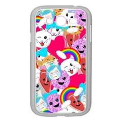 Cute Cartoon Pattern Samsung Galaxy Grand Duos I9082 Case (white)