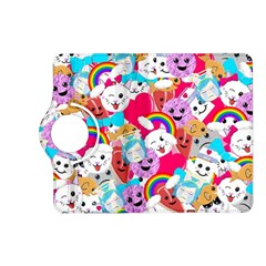 Cute Cartoon Pattern Kindle Fire Hd (2013) Flip 360 Case