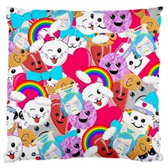 Cute Cartoon Pattern Large Flano Cushion Case (two Sides)