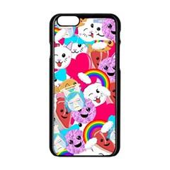 Cute Cartoon Pattern Apple Iphone 6/6s Black Enamel Case
