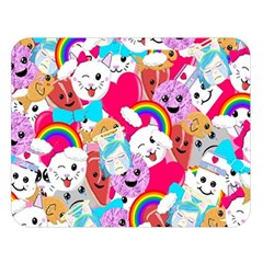 Cute Cartoon Pattern Double Sided Flano Blanket (Large)