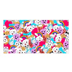 Cute Cartoon Pattern Satin Shawl