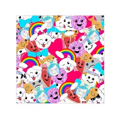 Cute Cartoon Pattern Small Satin Scarf (square)