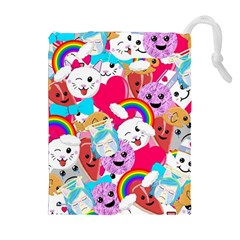 Cute Cartoon Pattern Drawstring Pouches (extra Large)