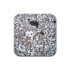 Cute Doodles Rubber Coaster (square)