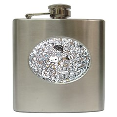 Cute Doodles Hip Flask (6 Oz)