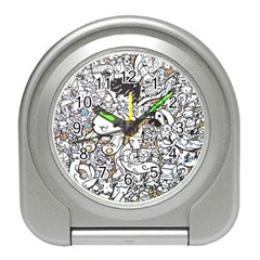 Cute Doodles Travel Alarm Clocks