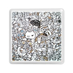 Cute Doodles Memory Card Reader (Square)