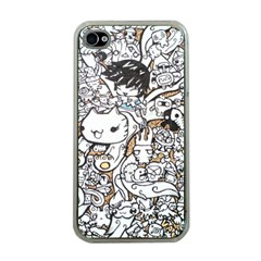 Cute Doodles Apple Iphone 4 Case (clear)