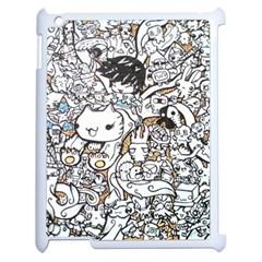 Cute Doodles Apple Ipad 2 Case (white)