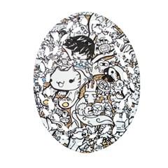 Cute Doodles Ornament (Oval Filigree)