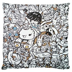 Cute Doodles Large Cushion Case (one Side)