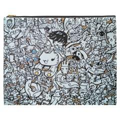 Cute Doodles Cosmetic Bag (xxxl)
