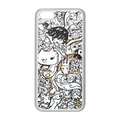 Cute Doodles Apple Iphone 5c Seamless Case (white)