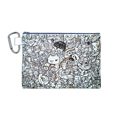 Cute Doodles Canvas Cosmetic Bag (M)