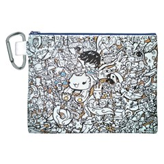 Cute Doodles Canvas Cosmetic Bag (XXL)