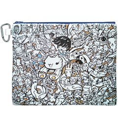 Cute Doodles Canvas Cosmetic Bag (XXXL)