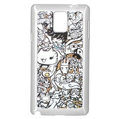 Cute Doodles Samsung Galaxy Note 4 Case (white)