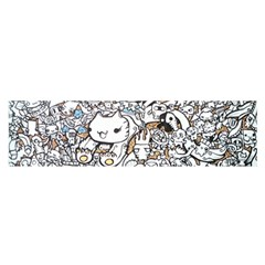 Cute Doodles Satin Scarf (oblong)